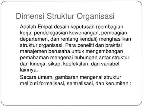 struktur organisasi dan desain kerja desain struktur organisasi