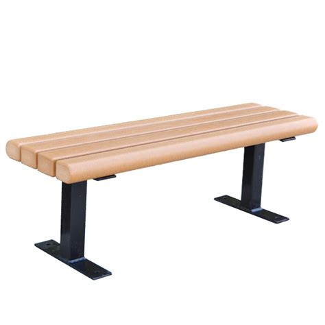 pvc bench trailside recycled plastic benches schoolsin