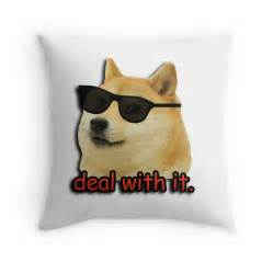 Duvet Cover With Zipper Quot Doge Deal With It Dog Meme Quot Throw Pillows By Gilbertop