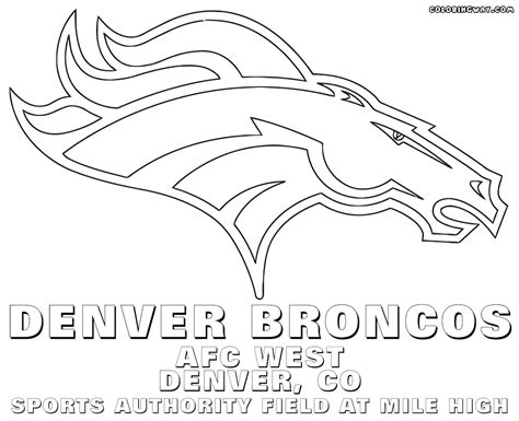 broncos coloring pages denver broncos mustang page coloring pages