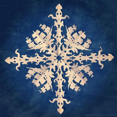 How To Make Amazing Paper Snowflakes - amazingly detailed paper snowflakes themed like doctor