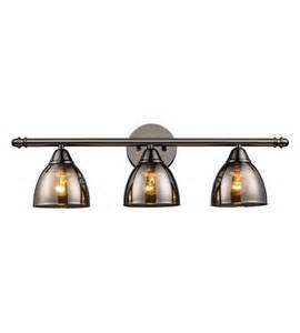 Black Bathroom Lights Elk Lighting Reflections 3 Light Vanity In Black Chrome 10052 3