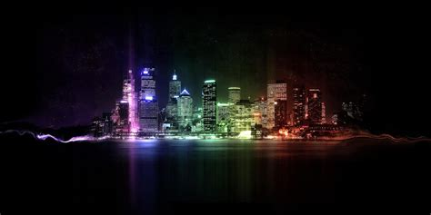 colorful city colorful city night lights free twitter headers