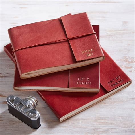 Handmade Paper Photo Albums - personalised handmade leather photo albums by paper high