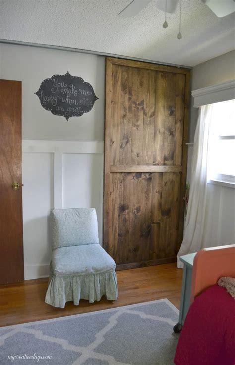 diy sliding closet door  creative days