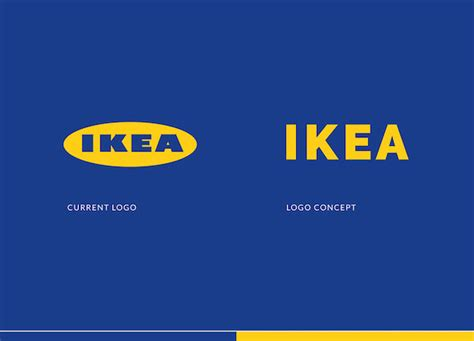 ikea redesign a minimalist redesign concept of ikea s logo that opts for