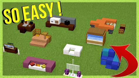 easy furniture ideas minecraft youtube
