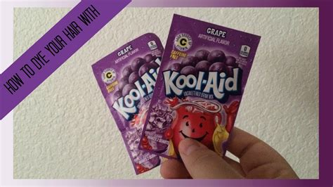 coloring hair with kool aid how to dye your hair with kool aid