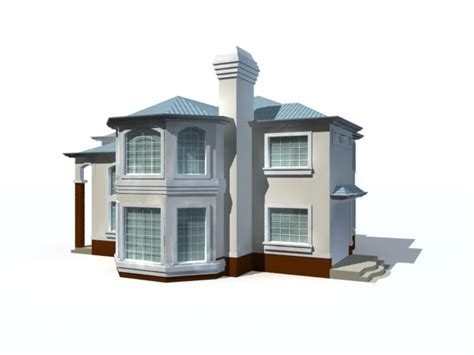 house 3d model free download modern two storey house 3d model 3ds max files free