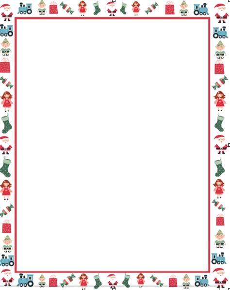 Christmas Letter Borders Free Printable Theveliger Letter Template Border