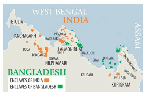 india bangladesh bangladesh india to begin exchange enclaves at midnight