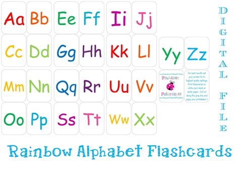 printable alphabet cards with pictures printable alphabet flashcards instant download
