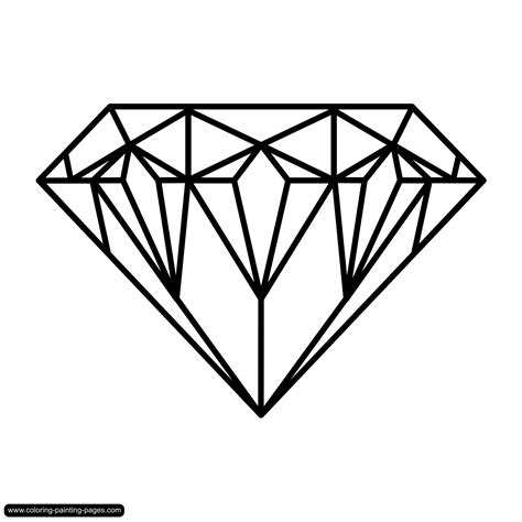 printable jewel shapes drawings of diamonds coloring pages various free