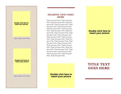 best photos of free 3 fold brochures template blank tri