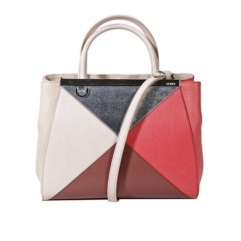 Leather Patchwork Handbags - fendi handbag 2jours small leather patchwork in multicolor
