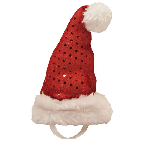 kyjen holiday led santa hat small entirelypets