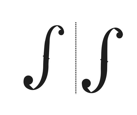 printable templates violin scroll ff holes the