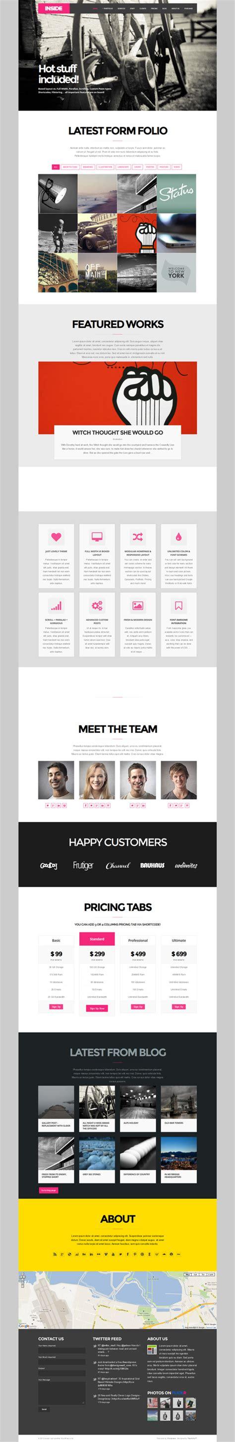 layout inside wordpress new wordpress themes modern responsive design