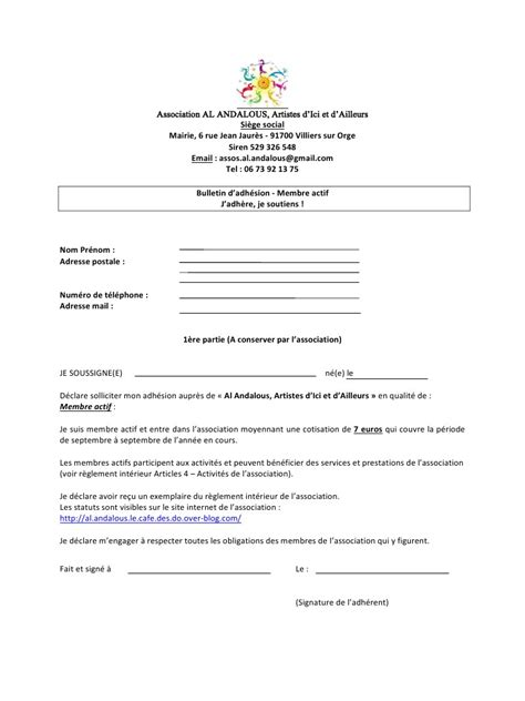 lettre d une adh 233 exemple de reglement interieur d une association 28 images r 233 servez d 232 s aujourd hui