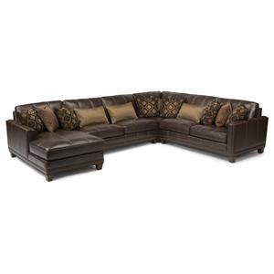 port royal leather sectional flexsteel latitudes port royal transitional four piece