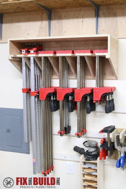space saving parallel clamp rack project plans