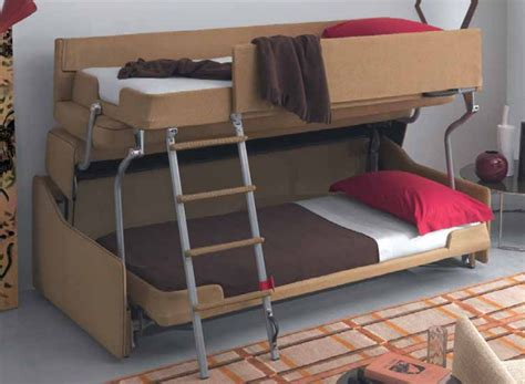 a sofa bed which turns into bunk beds a modern mini miracle it s a sofa that turns into a bunk bed