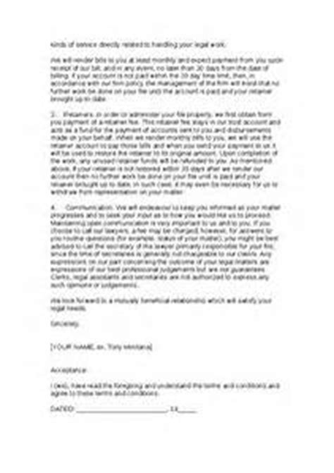 law firm engagement letter letter of recommendation