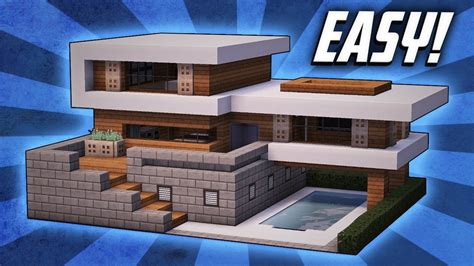 how to build a modern house in minecraft minecraft how to build a large modern house tutorial 19 youtube
