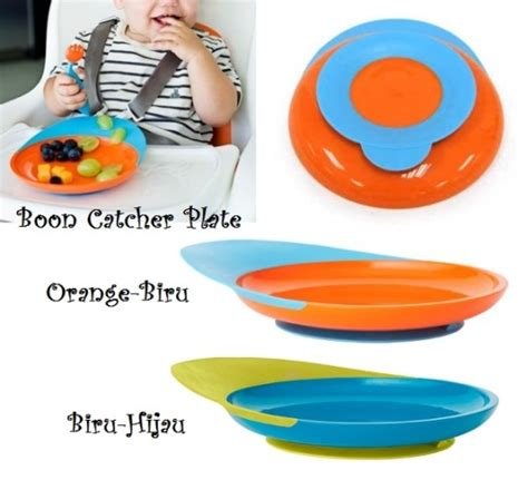 Boon Catch Plate Oranye Biru jual boon catch plate griya bayi