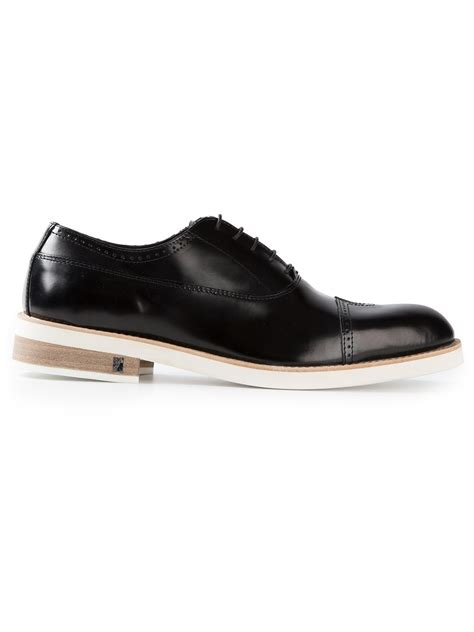 oxford shoes black versace oxford shoes in black for lyst