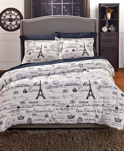 paris themed bedroom set vintage paris travel themed european charm comforter shams