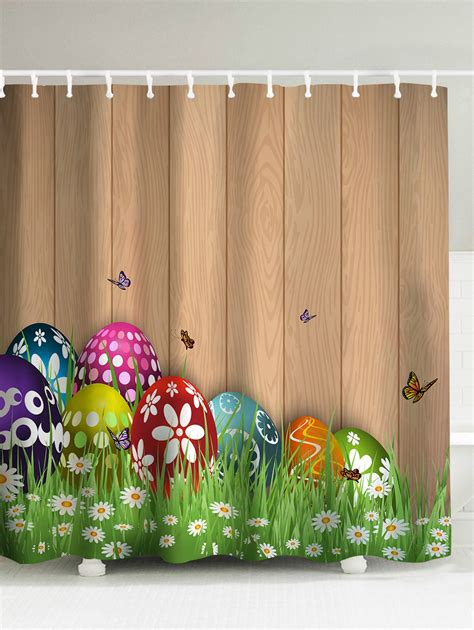 Egg Themed Dresses From Browns For Easter by Easter Decor Colorul Eggs Print Shower Curtain In Light