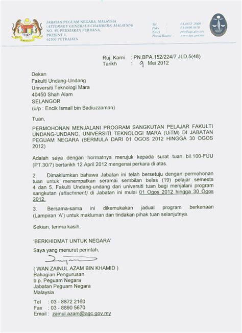 latihan industri fuu surat pengesahan daripada majikan 05 07 2012