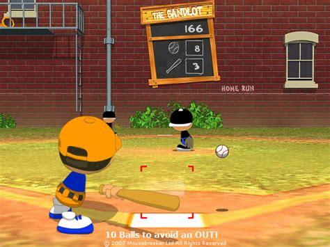 backyard baseball unblocked outdoor goods