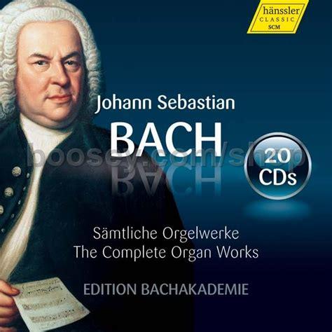 0014022923 edition peters bach johann sebastian bach johann sebastian complete organ works hanssler