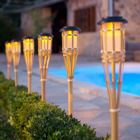 Tiki Torch Lights And Outdoor Oil Ls Garden Party Gear Outdoor Tiki Lights