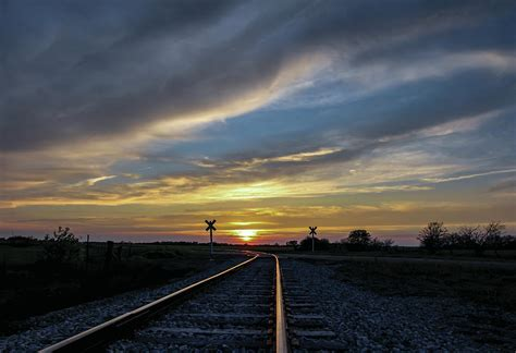 harris curtain track sunset tracks vt photograph by chris harris