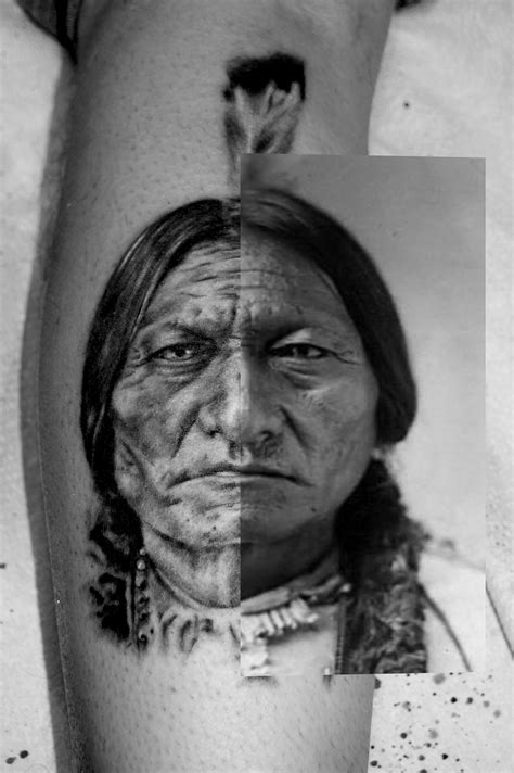 sitting bull and reference photo side by side