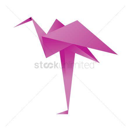 Flamingo Origami - free flamingoes stock vectors stockunlimited
