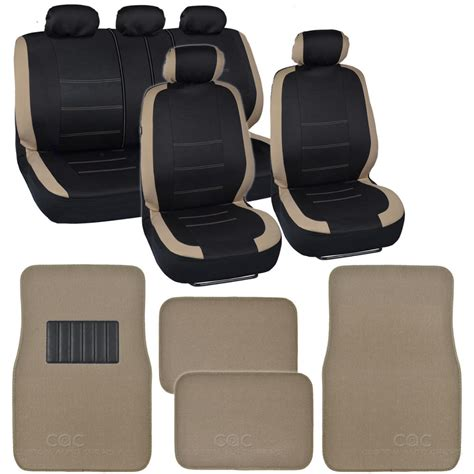 Interior Design Write For Us Two Tone Black Amp Beige Accent Stripes Car Seat Covers