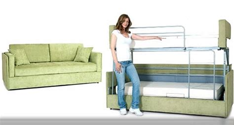 Sofa To Bunk Bed Price Coupe Sofa Transforms Into A Bunk Bed In Seconds