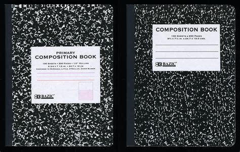 Composition Books Vernacular Typography Composition Book Cover Template