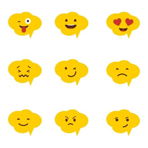 emoji vector free emoji clouds vector free download