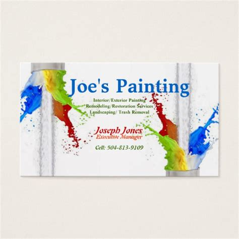 painting business cards templates free psd painting logos business cards image collections card
