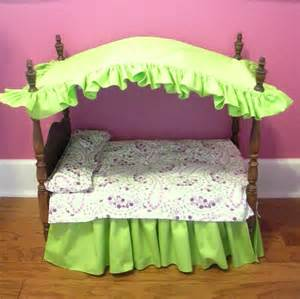 Doll Canopy Bed Pink Gingham Bedding Canopy Beds For Baby Dolls And Babies
