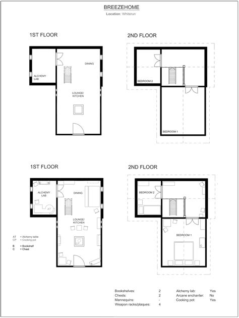 house design layout breezehome floor plan skyrim by neonspider on deviantart