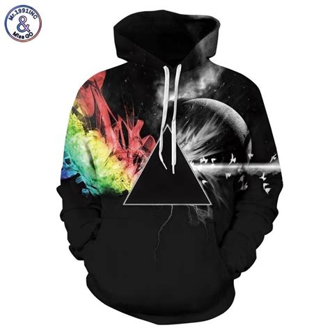 Hoodie 3d Fullprint Rainbow Import mr 1991inc brand sweatshirts 3d sweatshirts print sunlight refraction rainbow hooded