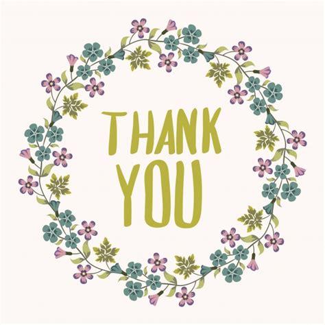imagenes de gracias vintage thank you background with floral wreath vector free download