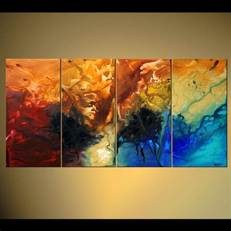 contemporary painting ideas abstract painting large modern canvas art multi panel 4754
