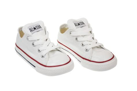 converse ct toddler white canvas low top trainers
